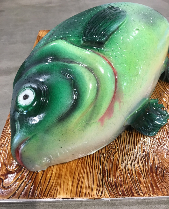 3d carved fish cake